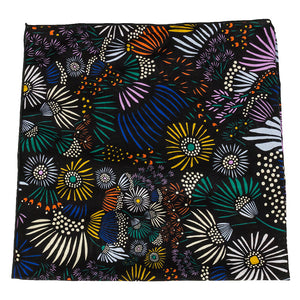 black floral cotton bandana made in canada