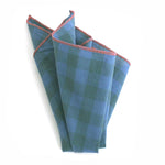 Oak Checkered Pocket Square