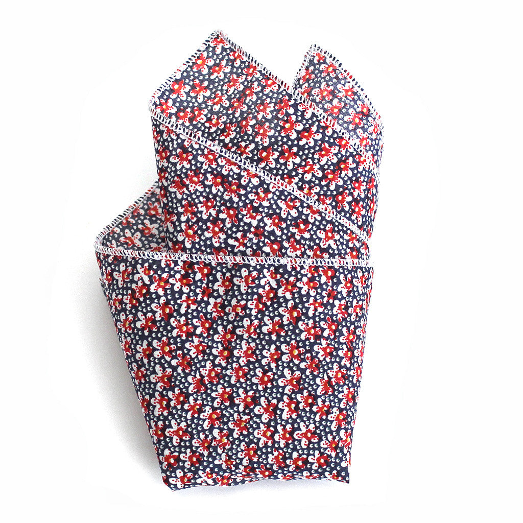 Longview Floral Pocket Square