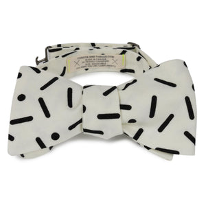 pop black and white japanese cotton bow tie