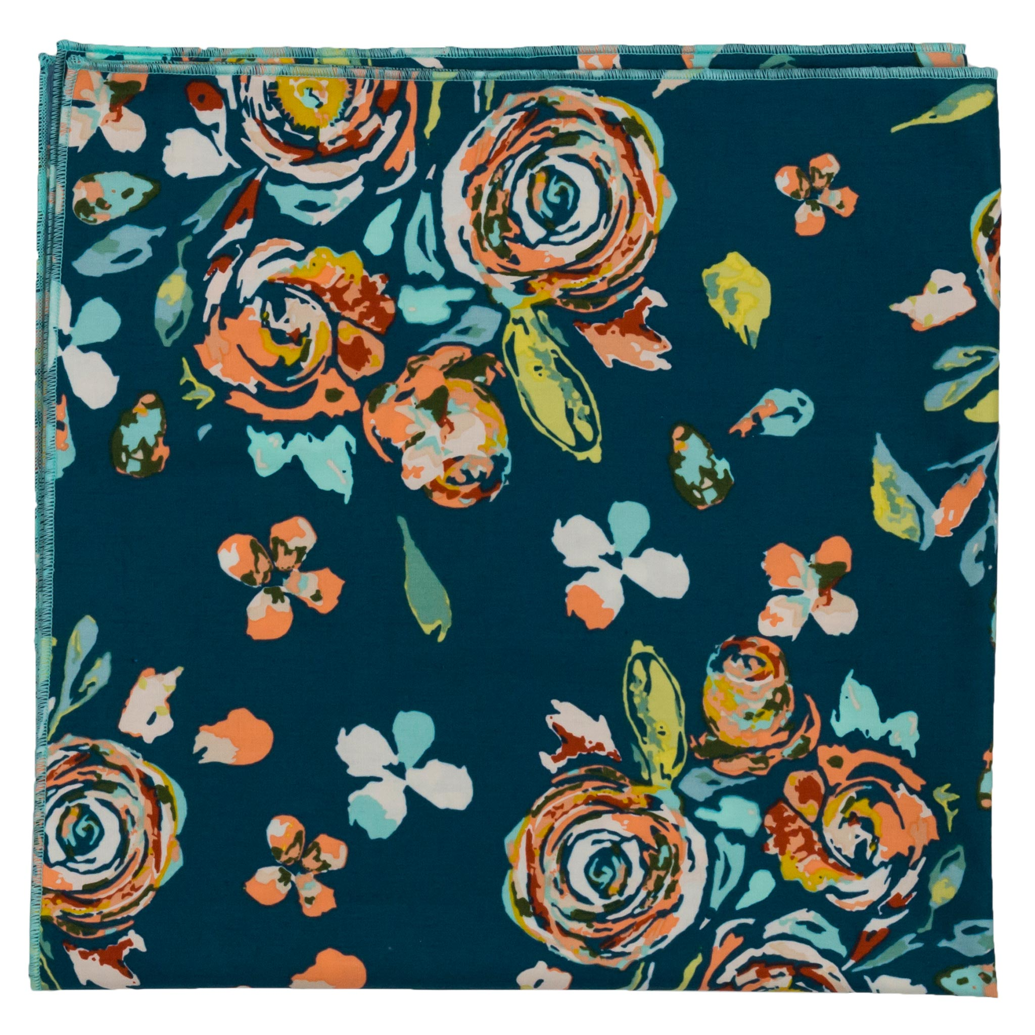 Rosa Navy Floral Bandana Made in Canada