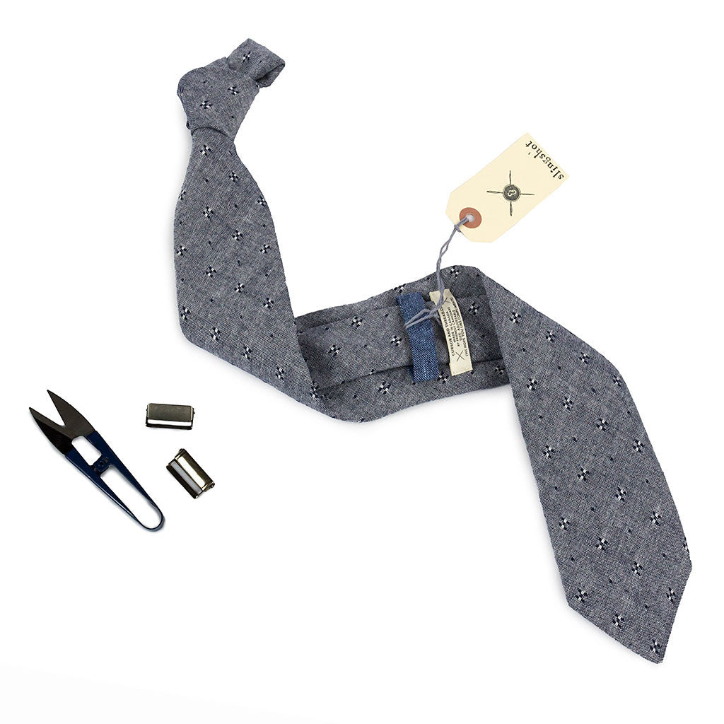 Grey Chambray Necktie