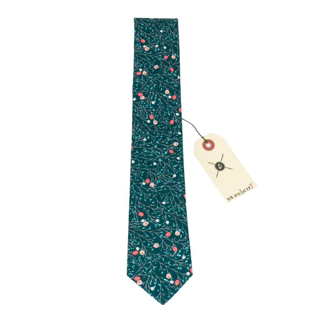 Snowberry Cotton Necktie Made in Canada