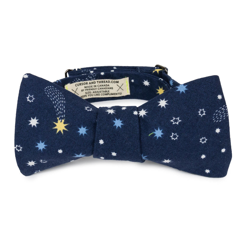 Star Bright Japanese Cotton Bow Tie made in Canada