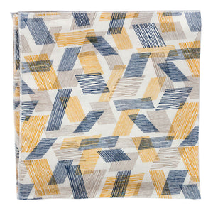 Blue and yellow cotton bandana made in Canada