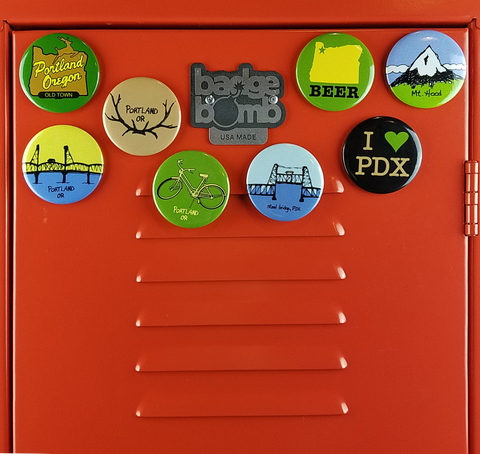 Portland Oregon Classic Big Magnets Bundle
