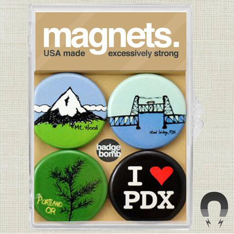 Mt. Hood Portland Oregon Magnet Pack by Badge Bomb