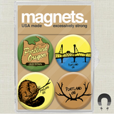Beaver Portland Oregon Magnet Pack by Badge Bomb