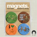 Bikes Magnet Pack from Badge Bomb