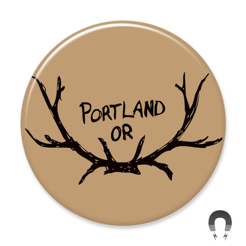 Portland Antlers Magnet by Badge Bomb