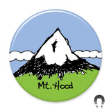 Portland Mt Hood Magnet by badge Bomb