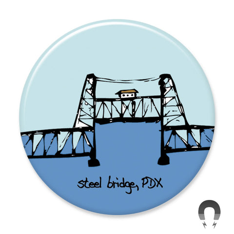 Portland Steel Bridge Magnet by Badge Bomb