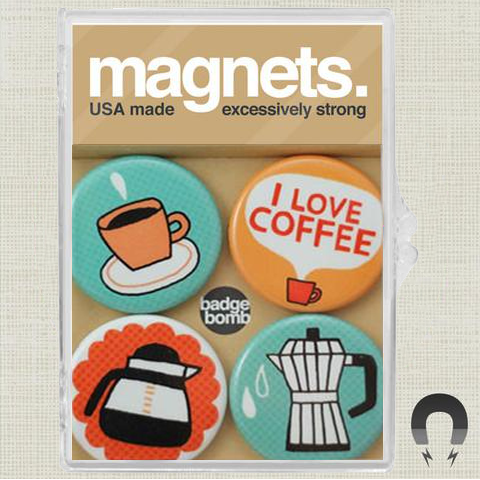 I Love Coffee Magnet Pack by Gemma Correll