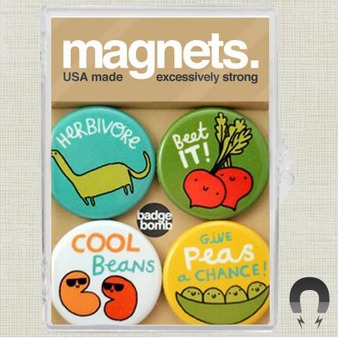 Beet It! Magnet Pack by Gemma Correll