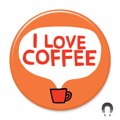 I Love Coffee Magnet by Gemma Correll