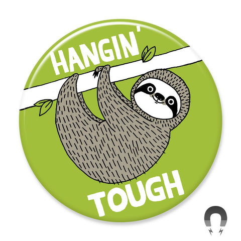 Hangin' Tough Sloth Magnet by Gemma Correll