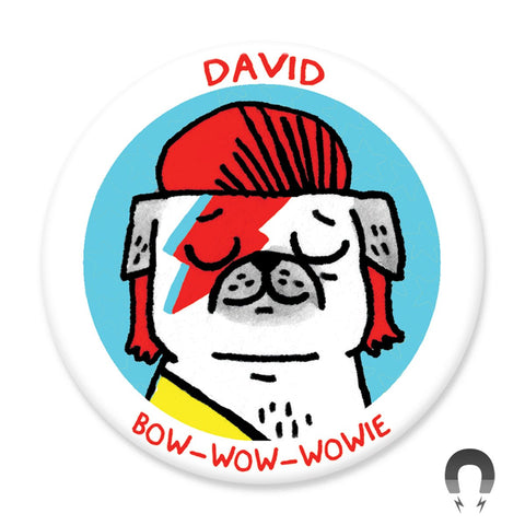 David Bow-wow-wowie Magnet by Gemma Correll