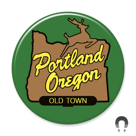 Portland sign Magnet by Badge Bomb