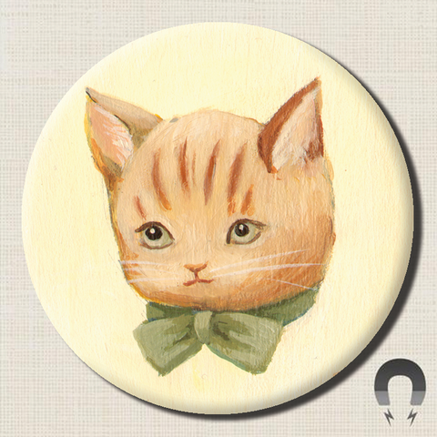 Cinnamon Kitty Magnet by Black Apple
