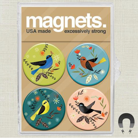 Woodland Birds Magnet Set by Daniel Roode