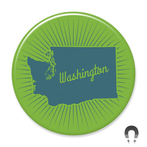 Washington State Blue Sunburst Big Magnet