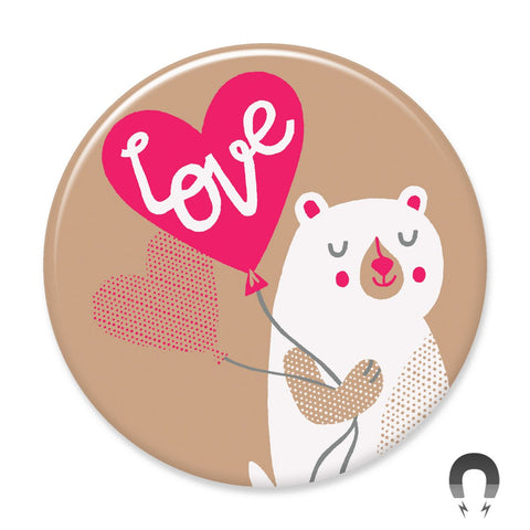 Love bear Big Magnet by Allison Cole for Badge Bomb