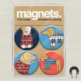 Holiday Sweater Dogs Magnet Pack by Kate Sutton