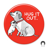 Hug it Out Big Magnet by Gemma Correll for Badge Bomb