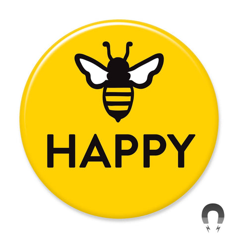 Bee Happy v2 Big Magnet