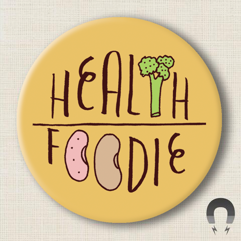 Health Foodie Big Magnet by Kate Sutton