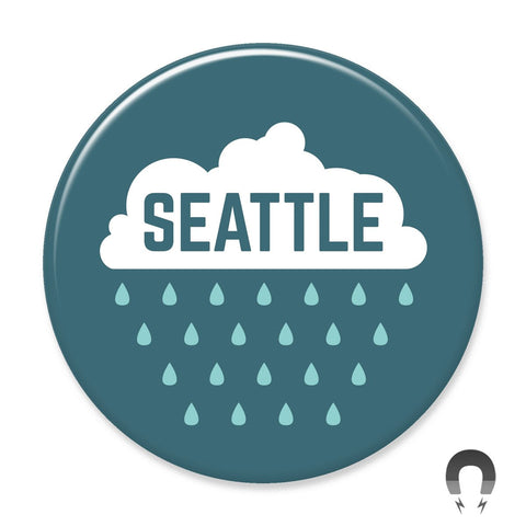 Seattle Rain Big Magnet