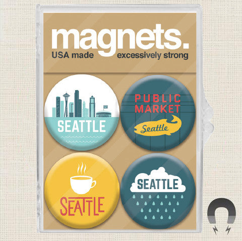 Seattle Washington Magnet Pack by Badge Bomb