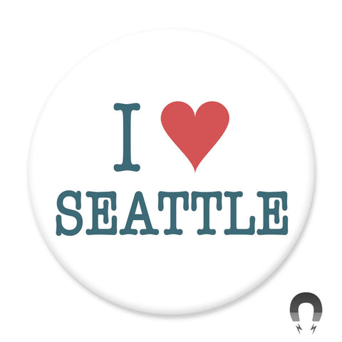I Love Seattle Big Magnet