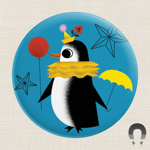 Daniel Roode Blue Penguin Magnet by Badge Bomb