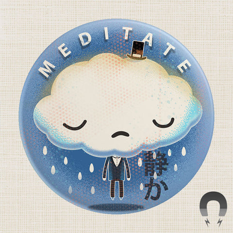64 Colors Meditate Big Magnet by Badge Bomb