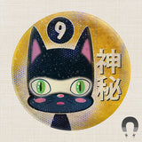64 Colors 9 Lives Cat Big Magnet by Badge Bomb