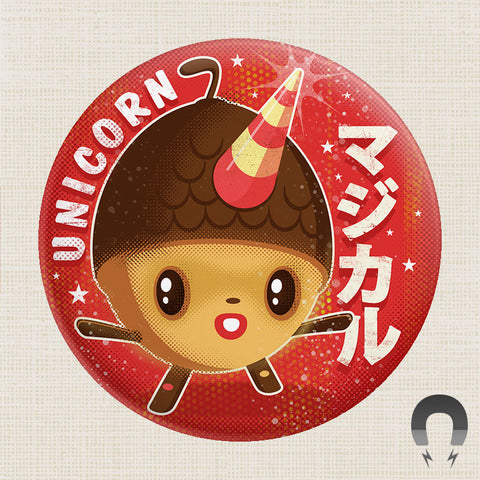 64 Colors Unicorn Acorn Big Magnet by Badge Bomb