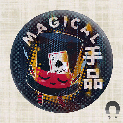 64 Colors Magician Hat Big Magnet by Badge Bomb