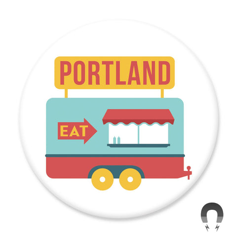 Portland Food Cart Big Magnet by Hey Darlin'