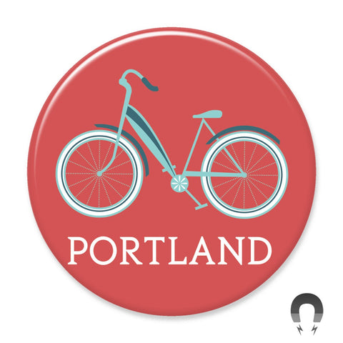 Portland Cruiser Bike Magnet by Hey Darlin'