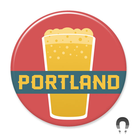 Portland Pint of Beer Magnet by Hey Darlin'