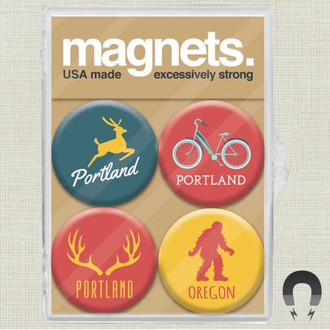 Portland Icons Oregon Magnet Pack by Badge Bomb