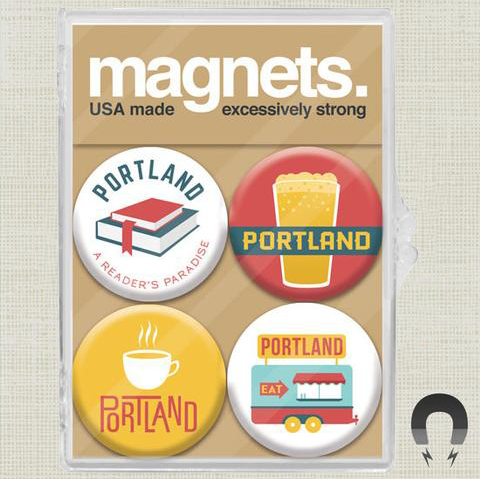 Portland Culture Magnet Set by Badge Bomb