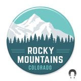 Rocky Mountains Magnet by Hey Darlin'