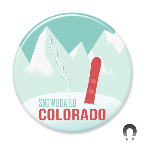 Snowboard Colorado Magnet by Hey Darlin'