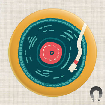 Bric-a-Brac Record Big Magnet by Allison Cole