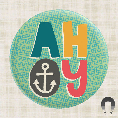 Ahoy Anchor Big Magnet by Allison Cole