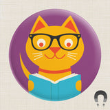 Reading Cat Big Magnet by Crossroads Creative