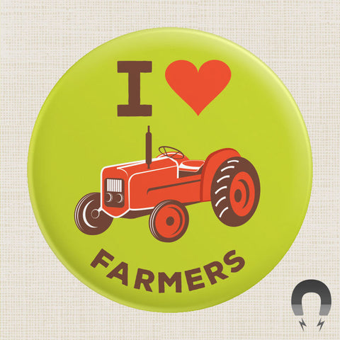 I Heart Farmers Big Magnet by Crossroads Creative.