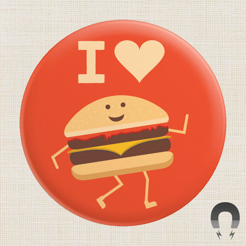 I Heart Burgers Big Magnet by Crossroads Creative